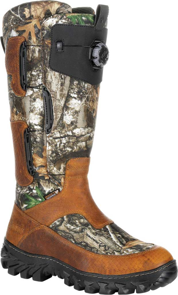 Men's Rocky King Snake BOA Fit System Snake Waterproof Boot, Realtree Edge Leather, large, image 1