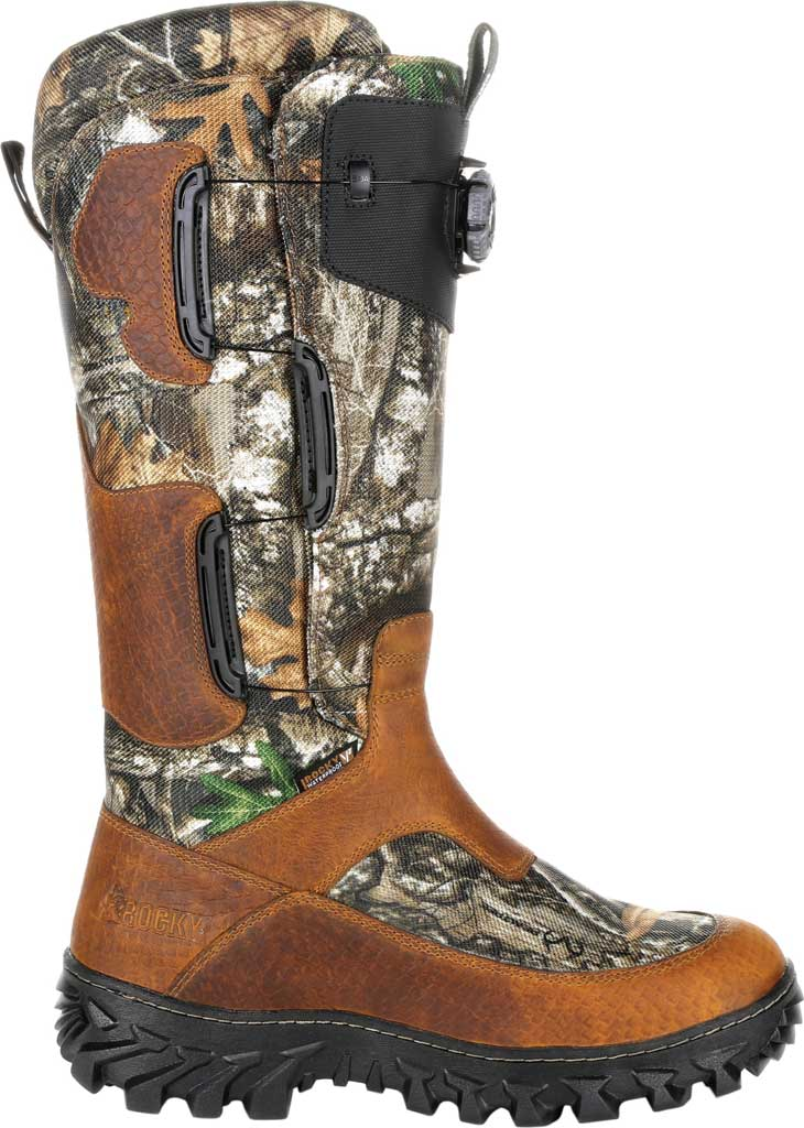 Men's Rocky King Snake BOA Fit System Snake Waterproof Boot, Realtree Edge Leather, large, image 2