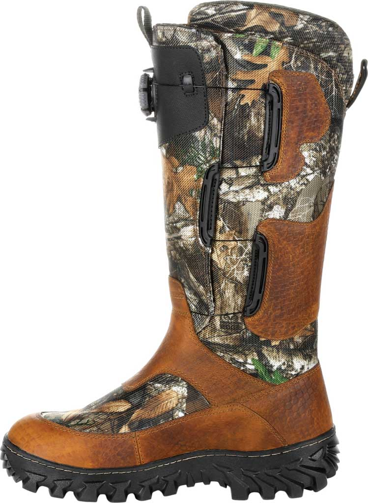 Men's Rocky King Snake BOA Fit System Snake Waterproof Boot, Realtree Edge Leather, large, image 3