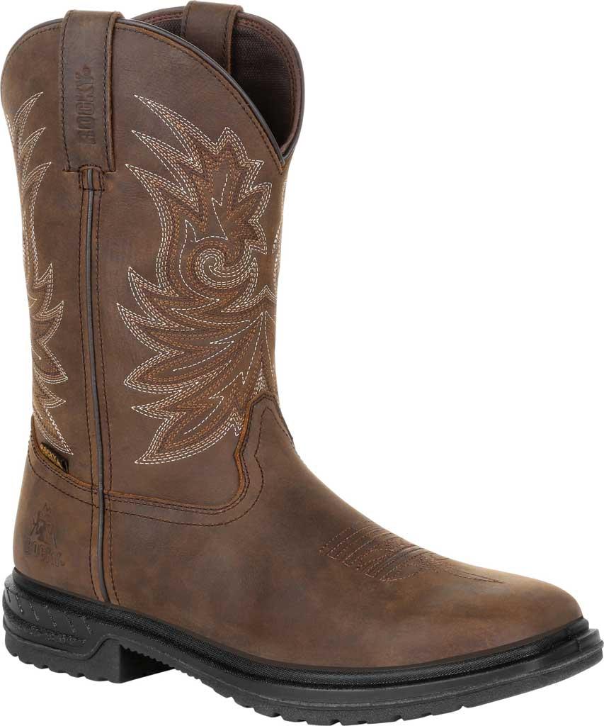 "Men's Rocky Worksmart 11"" Western Boot, Brown Full Grain Leather, large, image 1"