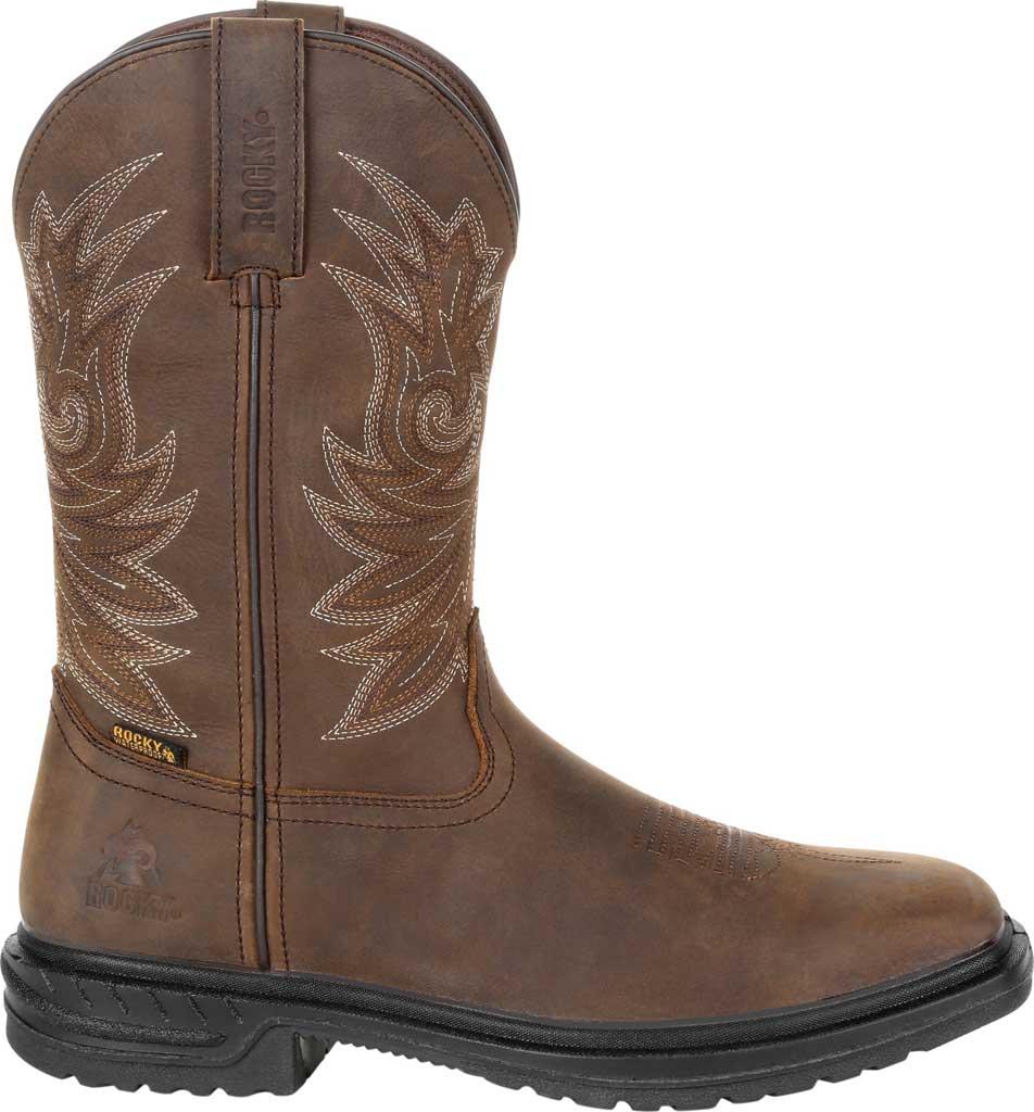 "Men's Rocky Worksmart 11"" Western Boot, Brown Full Grain Leather, large, image 2"