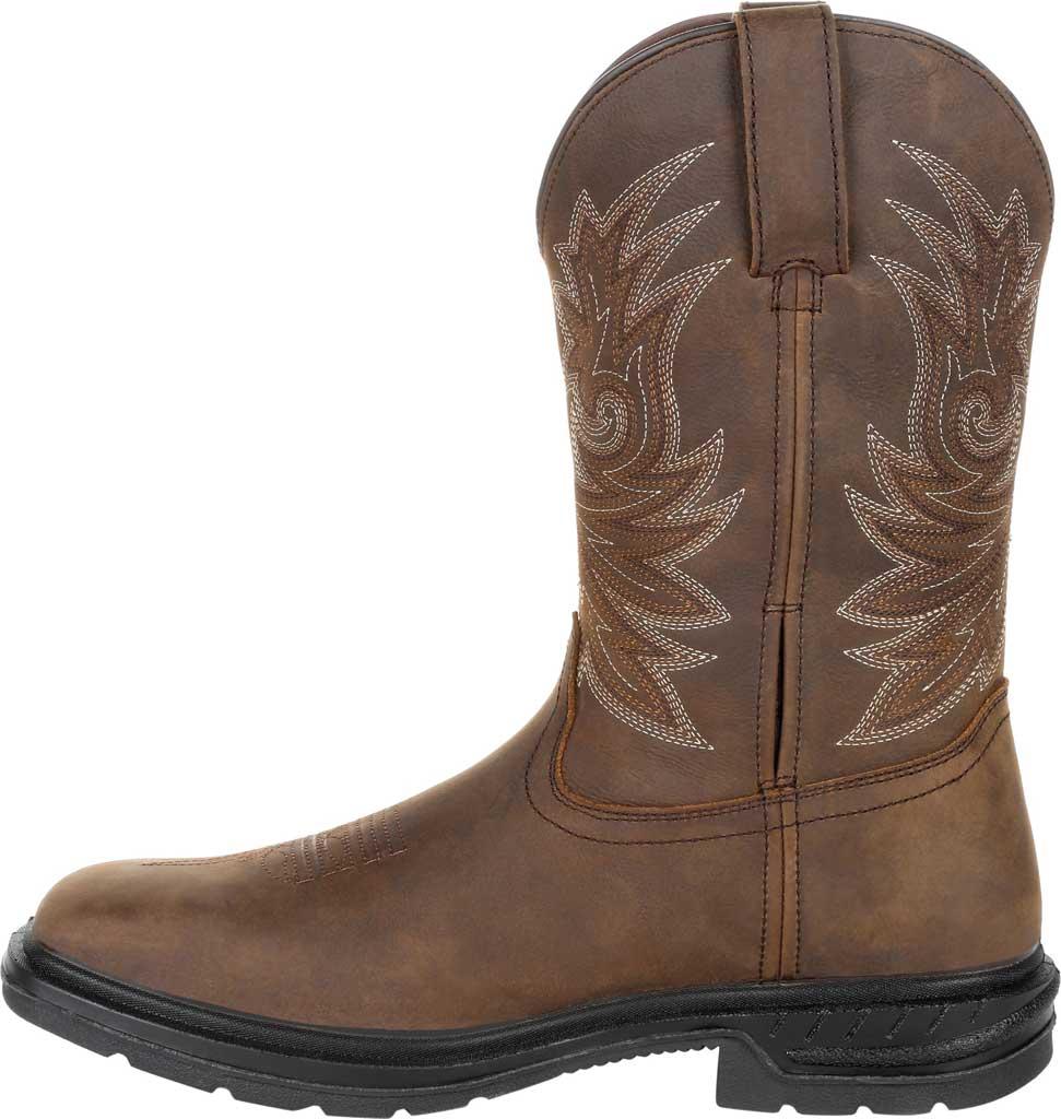 "Men's Rocky Worksmart 11"" Western Boot, Brown Full Grain Leather, large, image 3"