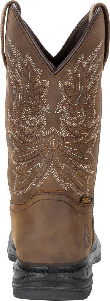 "Men's Rocky Worksmart 11"" Western Boot, Brown Full Grain Leather, large, image 4"