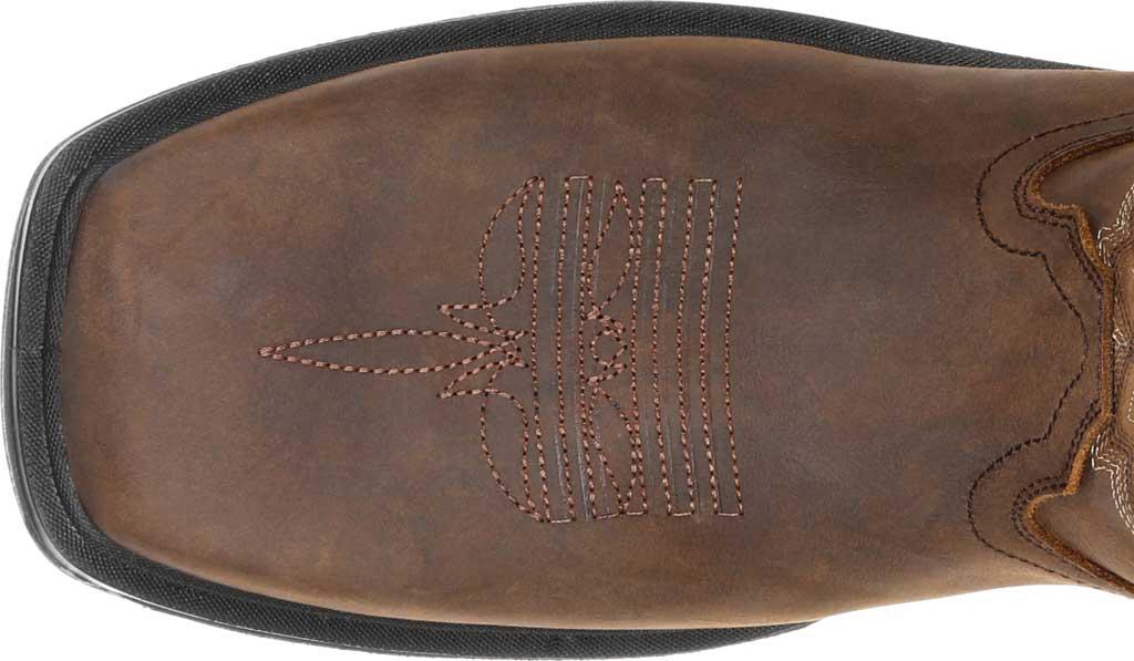 "Men's Rocky Worksmart 11"" Western Boot, Brown Full Grain Leather, large, image 5"