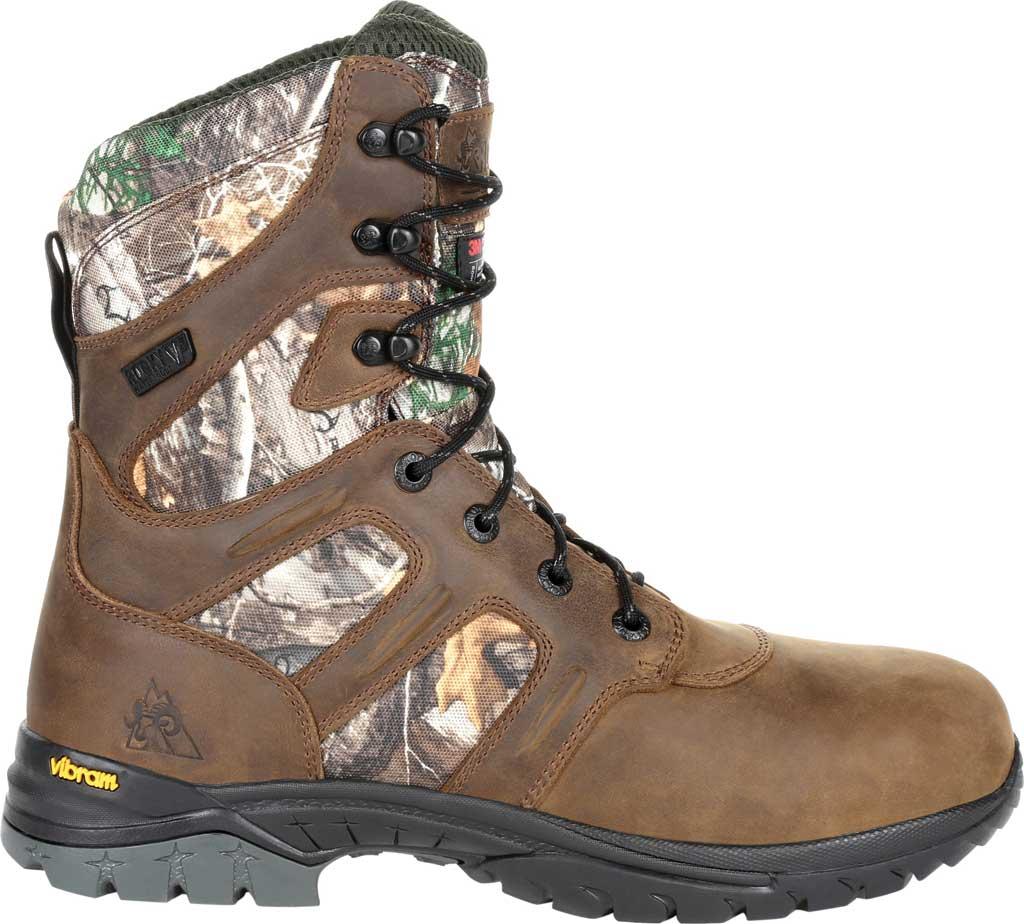 Men's Rocky Deerstalker Waterproof 800G Insulated Hiking Boot, Realtree Edge Full Grain Leather/Nylon, large, image 2