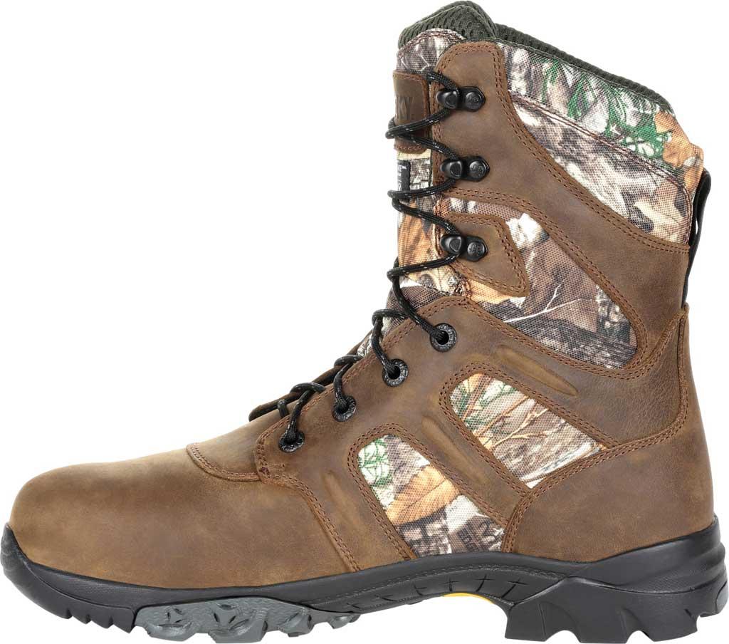 Men's Rocky Deerstalker Waterproof 800G Insulated Hiking Boot, Realtree Edge Full Grain Leather/Nylon, large, image 3