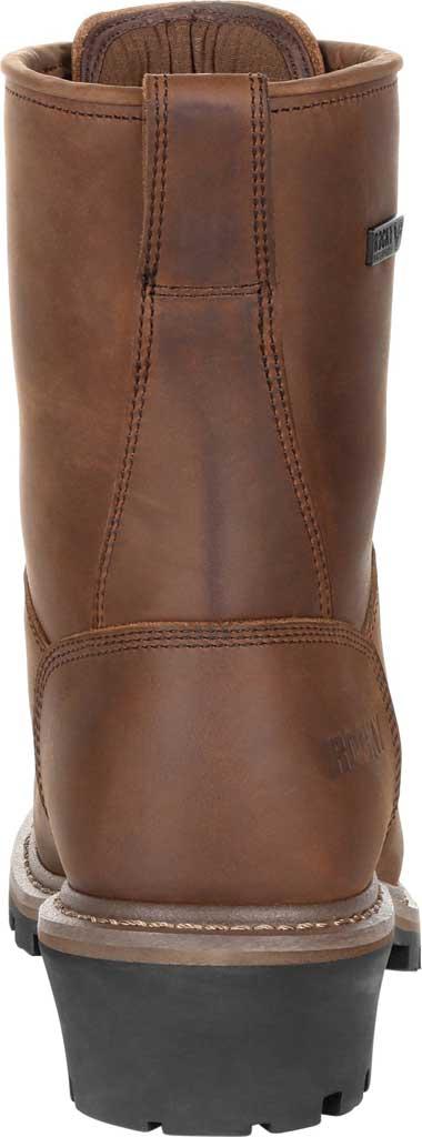 Men's Rocky Square Toe Logger Composite Toe Waterproof Boot, Dark Brown Full Grain Leather, large, image 4