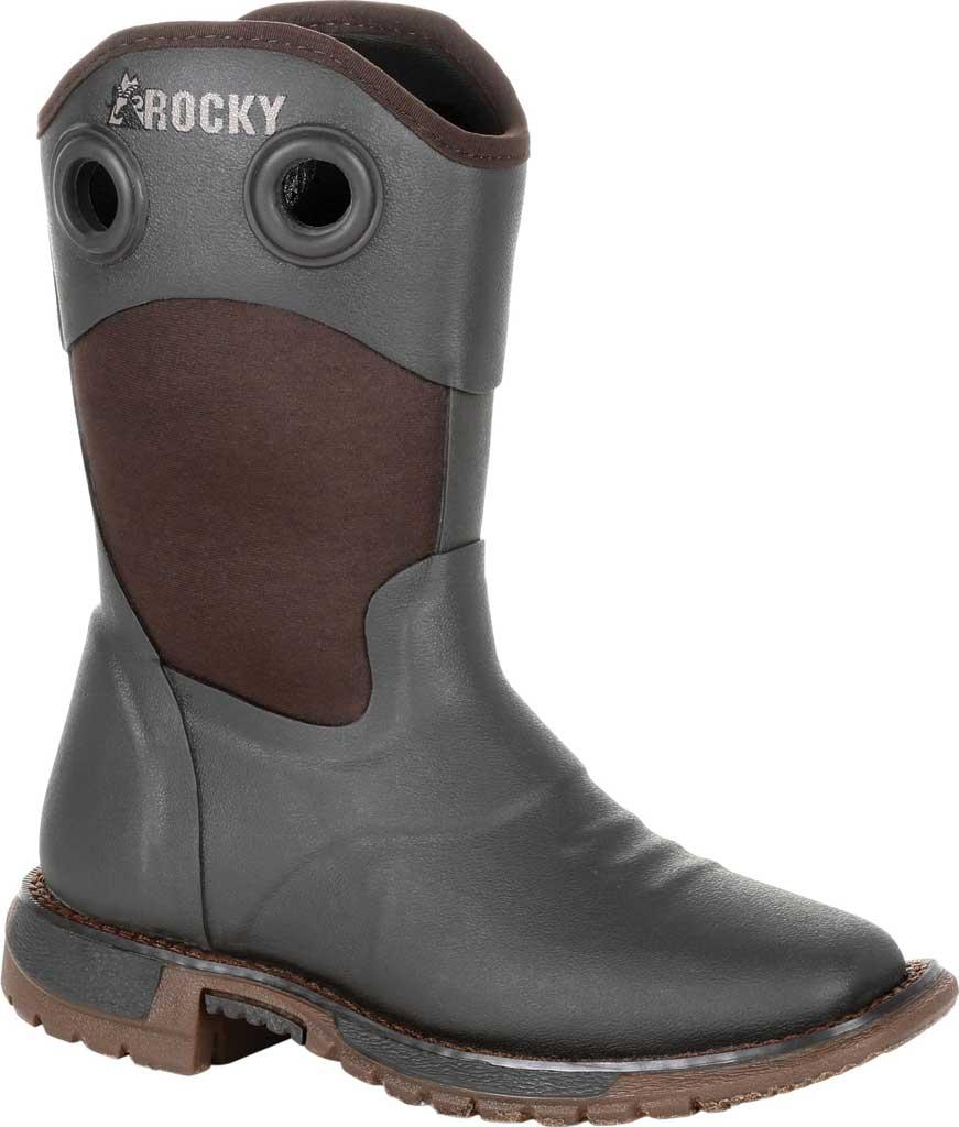 Children's Rocky Western Cowboy Boot - Big Kid, Dark Chocolate Rubber/Textile, large, image 1