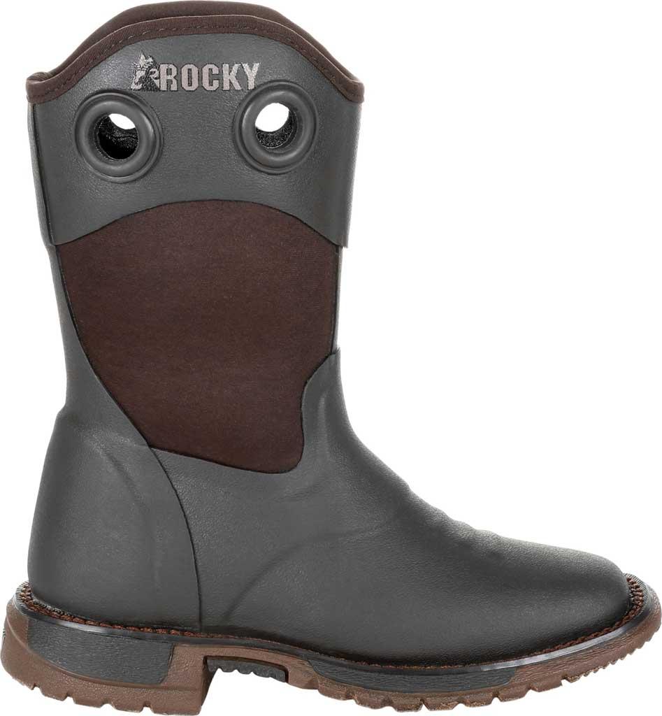 Children's Rocky Western Cowboy Boot - Big Kid, Dark Chocolate Rubber/Textile, large, image 2