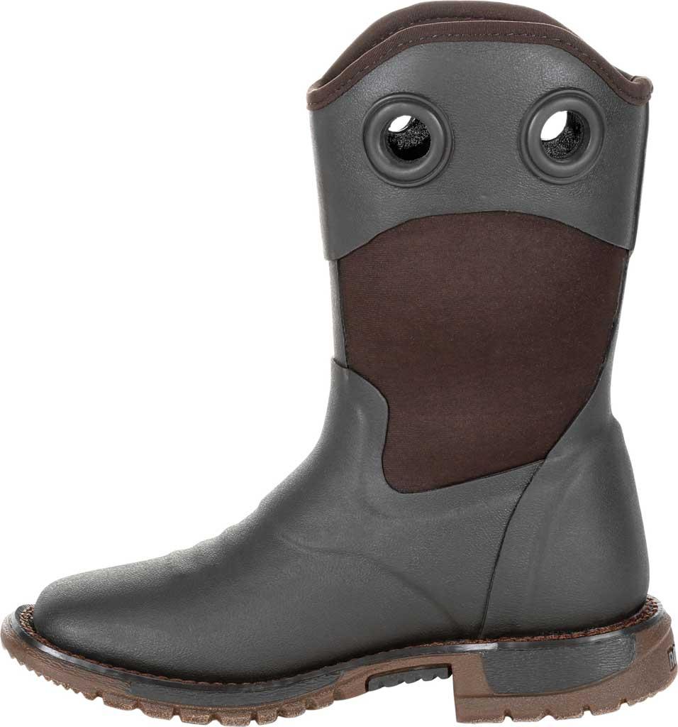 Children's Rocky Western Cowboy Boot - Big Kid, Dark Chocolate Rubber/Textile, large, image 3