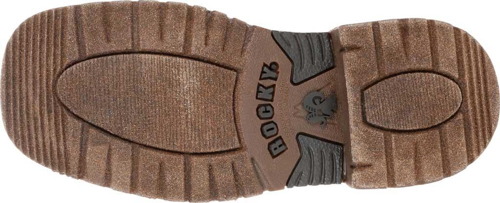 Children's Rocky Western Cowboy Boot - Big Kid, Dark Chocolate Rubber/Textile, large, image 6