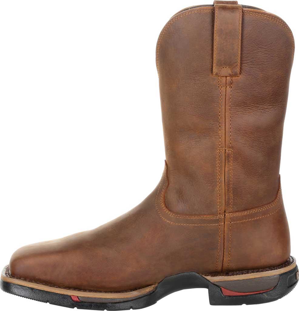 Men's Rocky Long Range Steel Toe Waterproof Western Boot, Brown Full Grain Leather, large, image 3