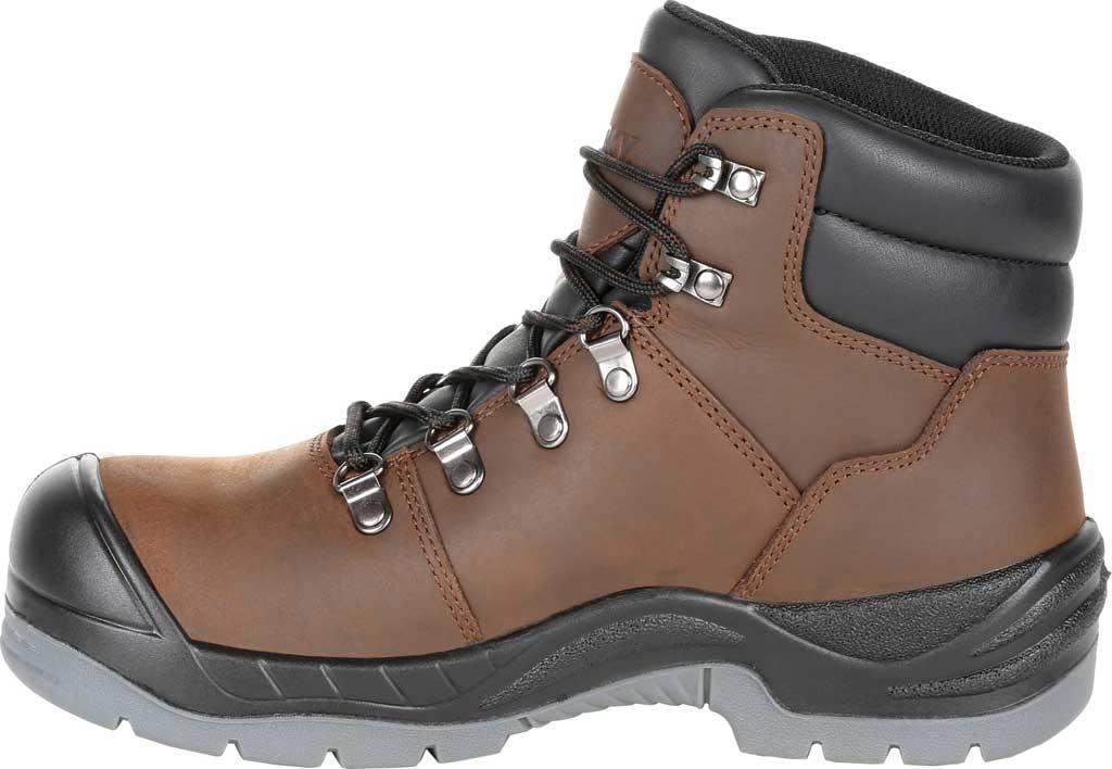 Women's Rocky Worksmart Waterproof Work Boot, Brown Full Grain Leather, large, image 3