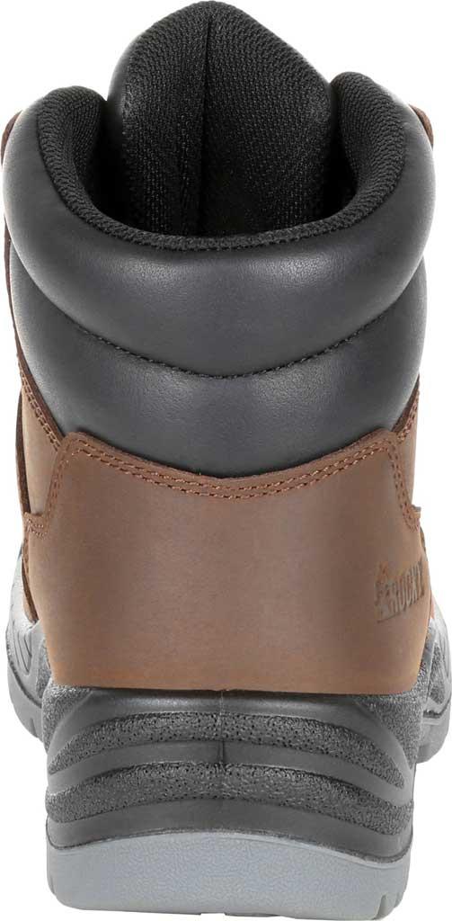 Women's Rocky Worksmart Waterproof Work Boot, Brown Full Grain Leather, large, image 4