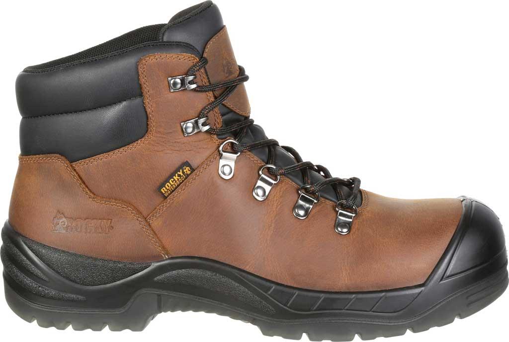 Men's Rocky Worksmart Waterproof Work Boot, Brown Full Grain Leather, large, image 2