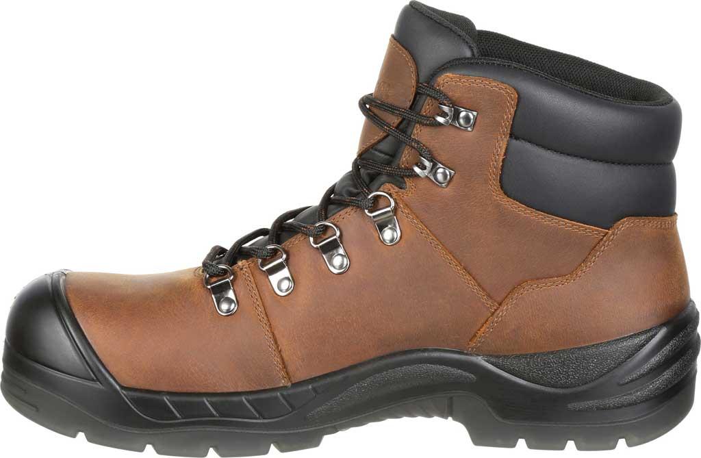 Men's Rocky Worksmart Waterproof Work Boot, Brown Full Grain Leather, large, image 3