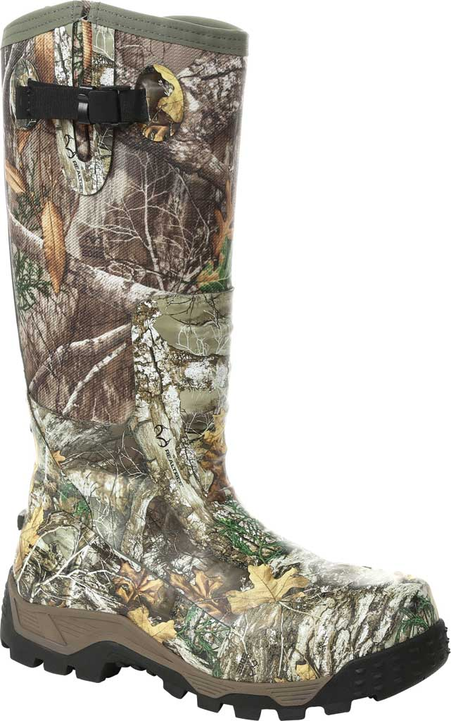 Men's Rocky Sport Pro Pull-On Snake Waterproof Boot, Realtree Edge/Textile, large, image 1