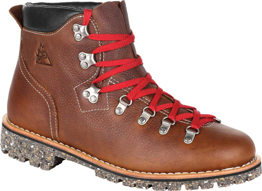 """Men's Rocky Collection 32 Small Batch 6"""" Boot, Brown Full Grain Leather, large, image 1"""