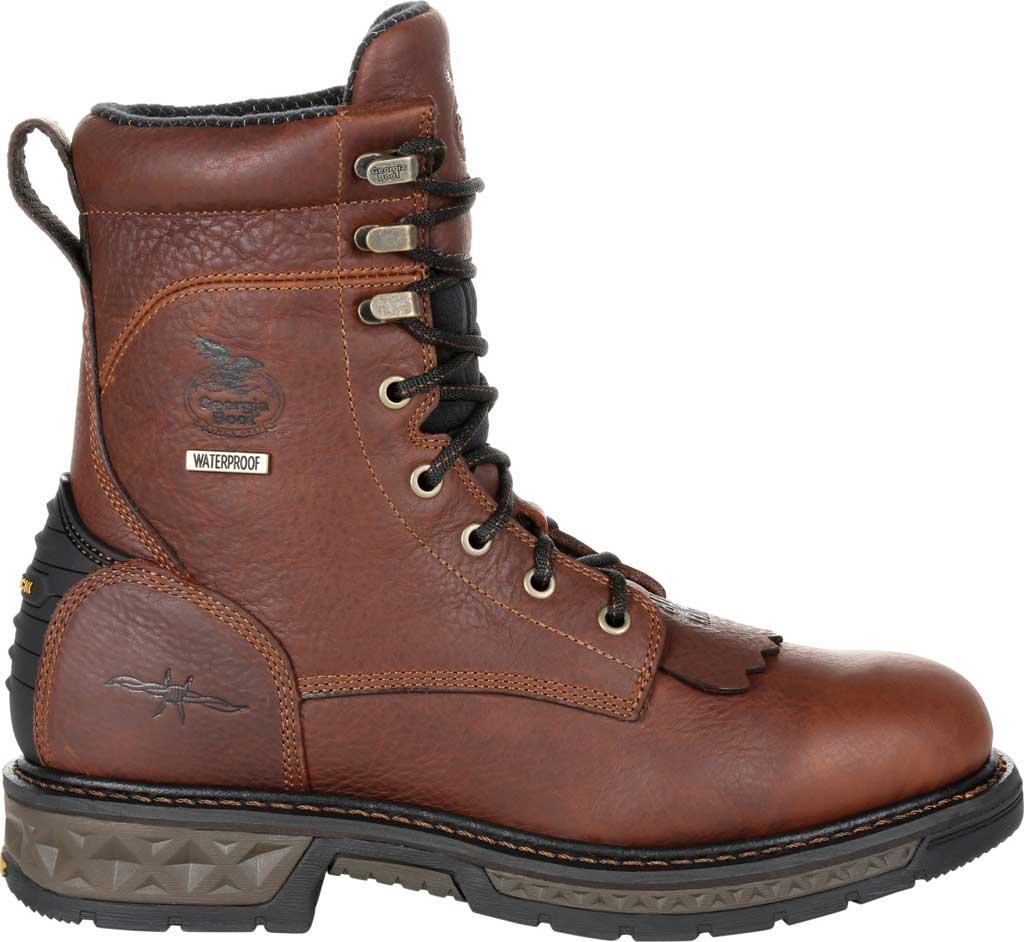 Men's Georgia Boot GB00309 Carbo-Tec LT Waterproof Lacer Work Boot, Brown Full Grain SPR Leather, large, image 2