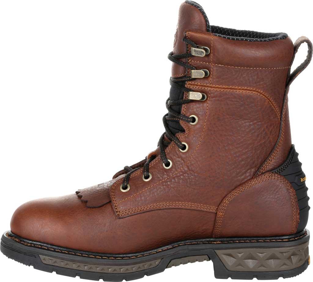 Men's Georgia Boot GB00309 Carbo-Tec LT Waterproof Lacer Work Boot, Brown Full Grain SPR Leather, large, image 3