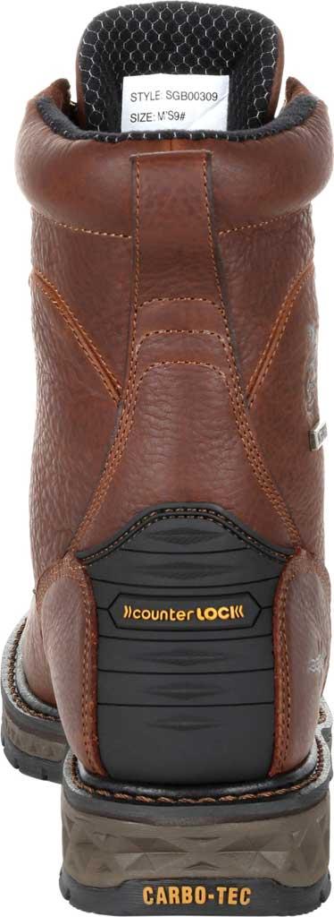 Men's Georgia Boot GB00309 Carbo-Tec LT Waterproof Lacer Work Boot, Brown Full Grain SPR Leather, large, image 4
