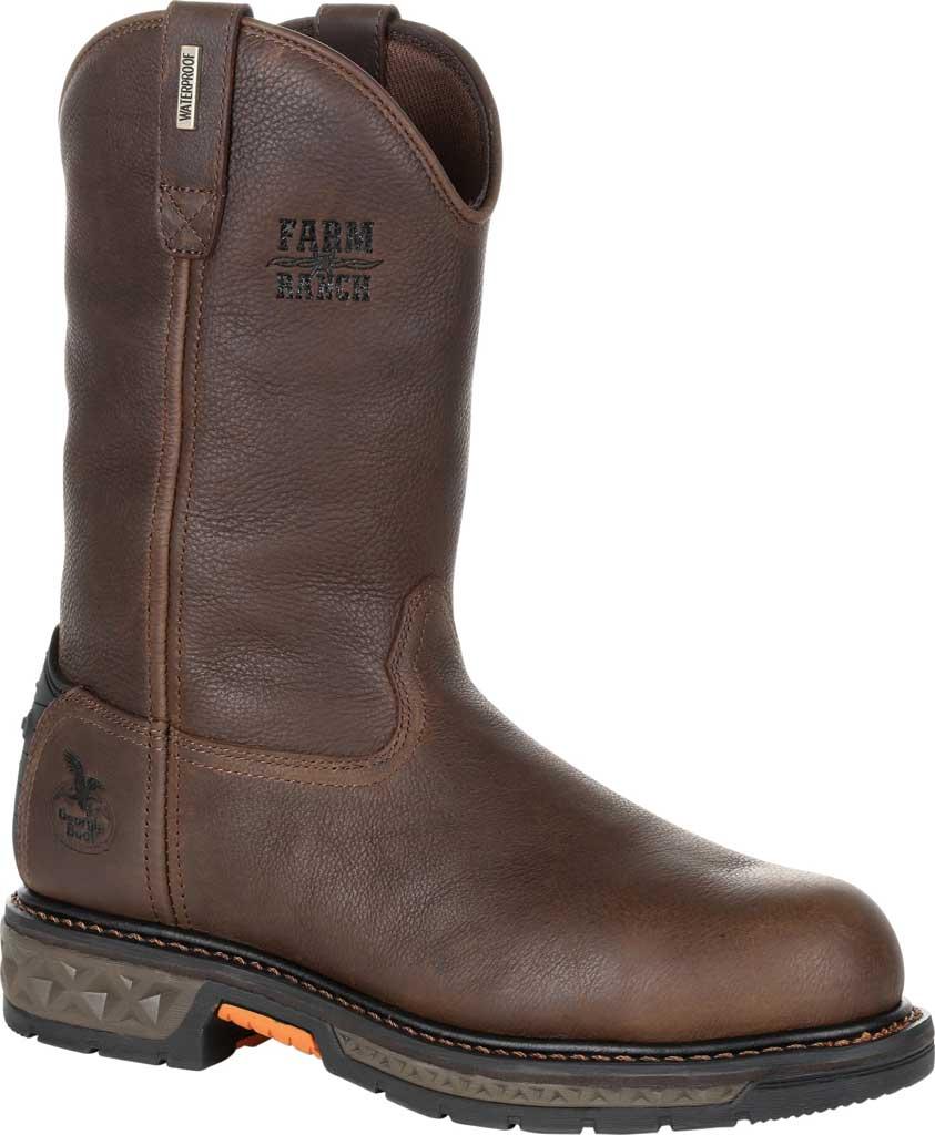 Men's Georgia Boot GB00310 Carbo-Tec LT WP Steel Toe Work Boot, Brown Full Grain SPR Leather, large, image 1