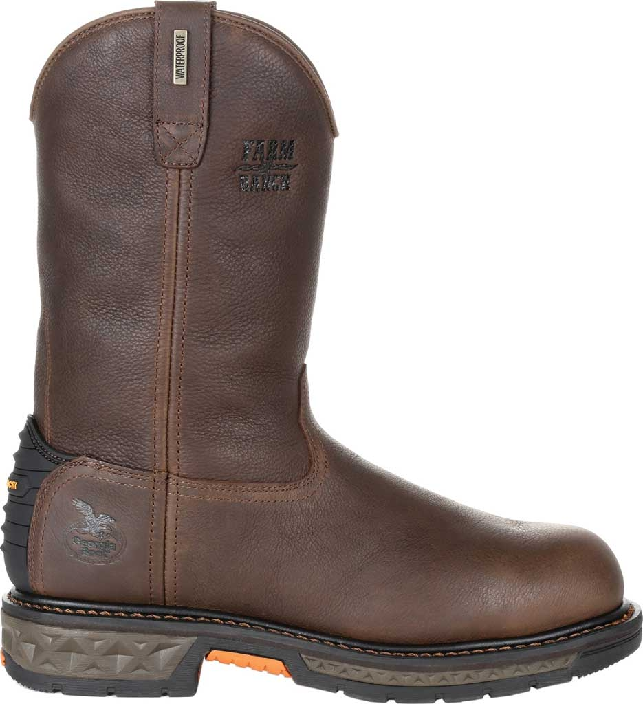 Men's Georgia Boot GB00310 Carbo-Tec LT WP Steel Toe Work Boot, Brown Full Grain SPR Leather, large, image 2