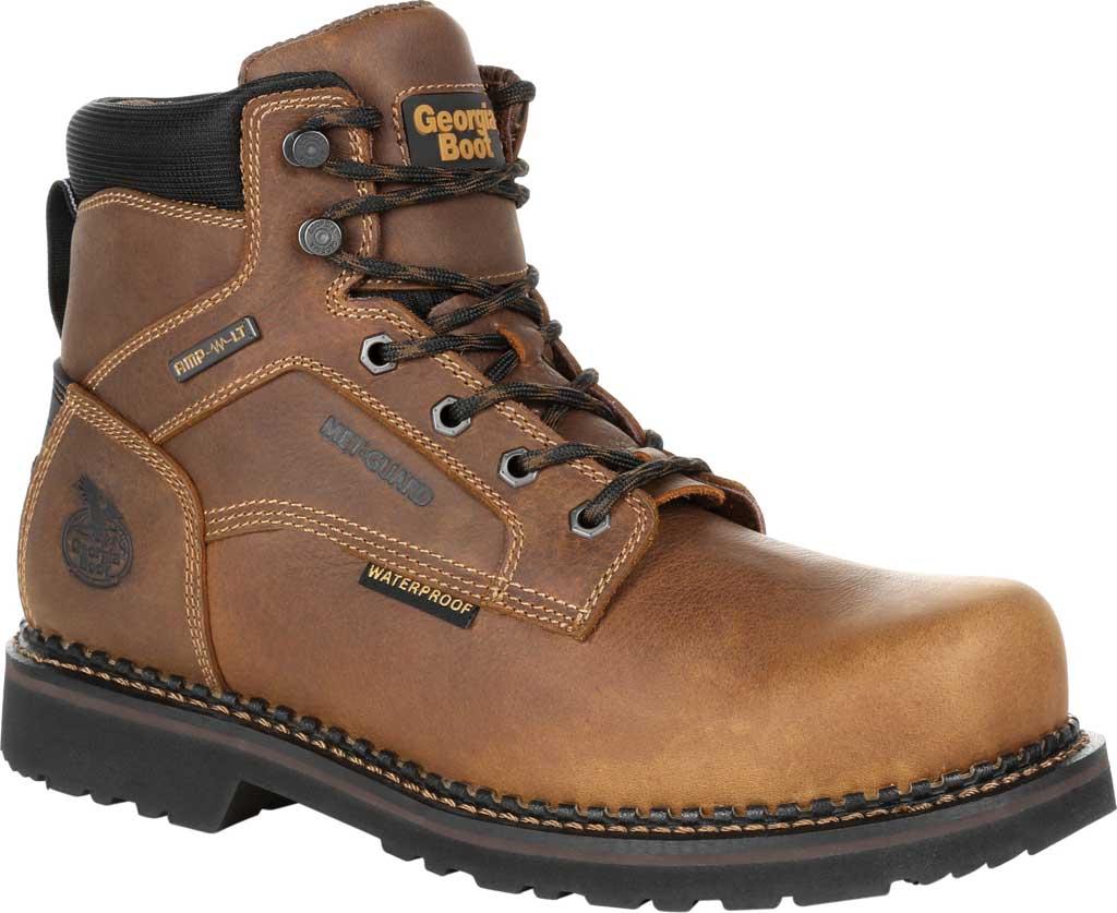 Men's Georgia Boot GB00322 Georgia Giant Revamp Steel Toe Work Boot, Brown Full Grain SPR Leather, large, image 1