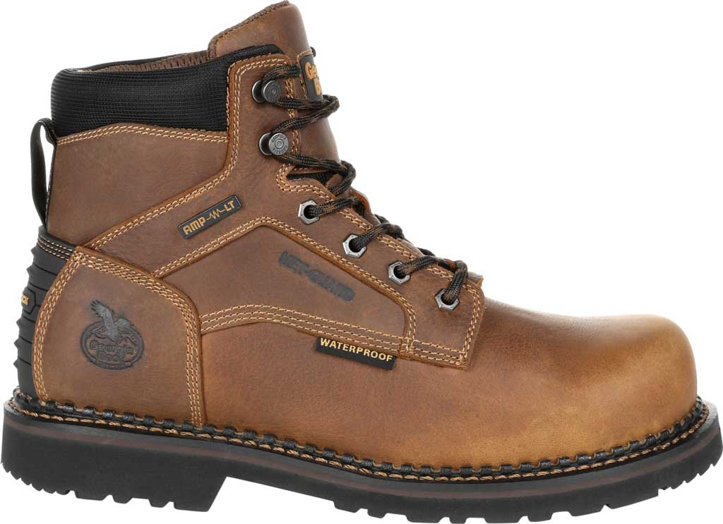 Men's Georgia Boot GB00322 Georgia Giant Revamp Steel Toe Work Boot, Brown Full Grain SPR Leather, large, image 2