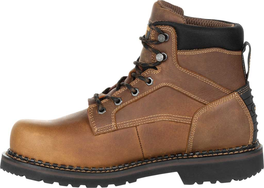 Men's Georgia Boot GB00322 Georgia Giant Revamp Steel Toe Work Boot, Brown Full Grain SPR Leather, large, image 3