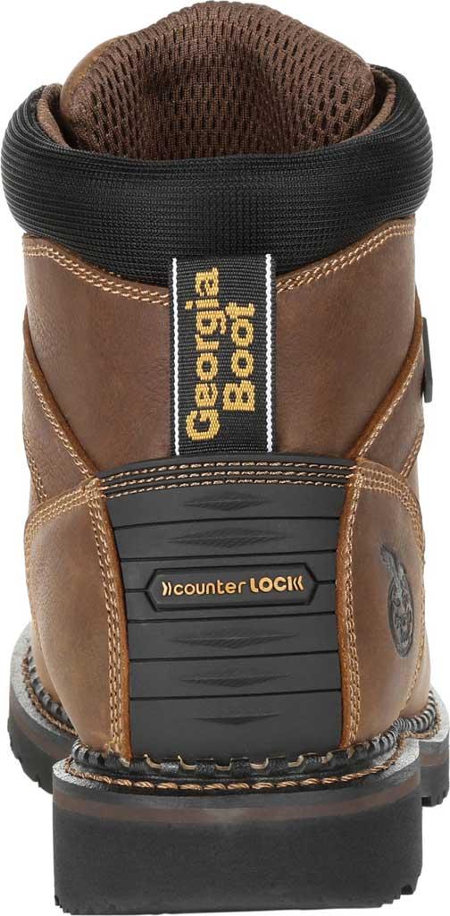 Men's Georgia Boot GB00322 Georgia Giant Revamp Steel Toe Work Boot, Brown Full Grain SPR Leather, large, image 4
