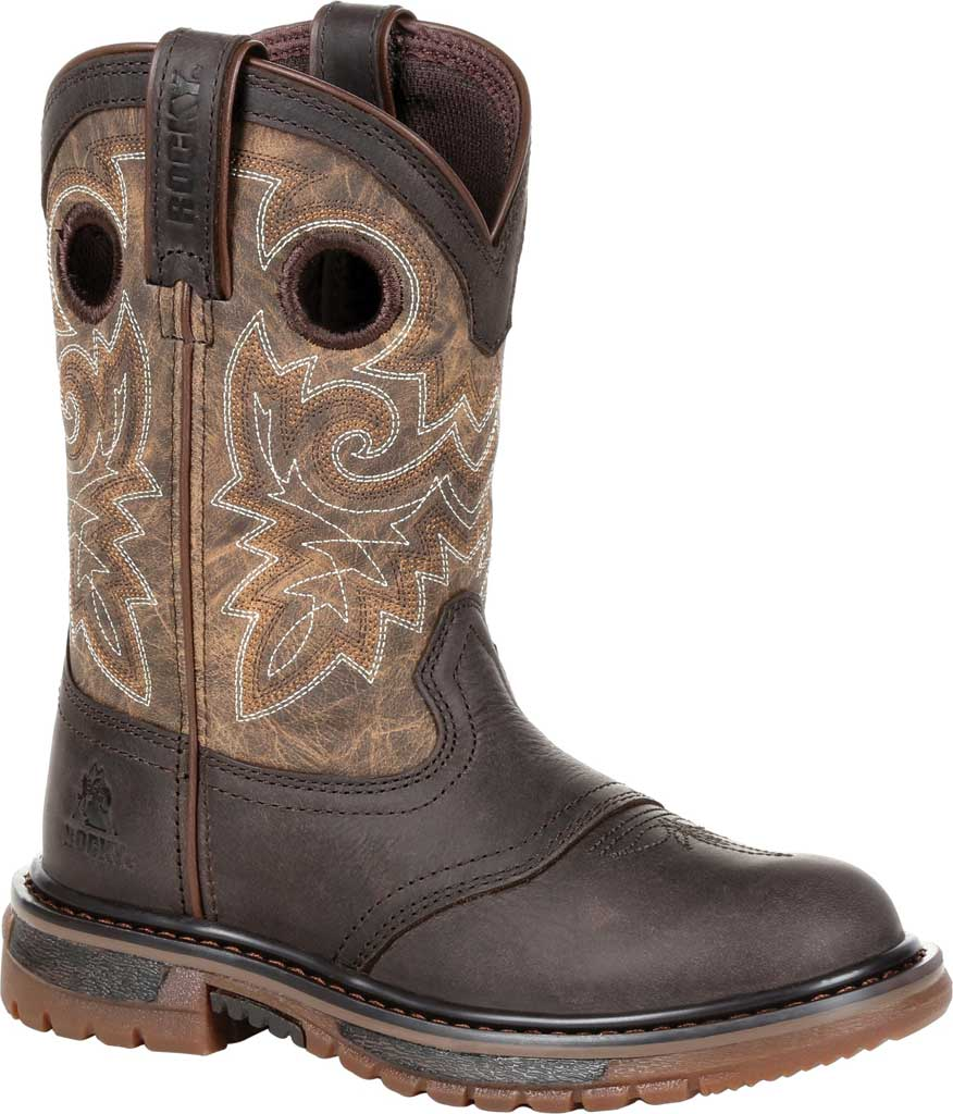 """Children's Rocky 8"""" Ride FLX Wellington RKW0301C - Little Kid, Old Town Brown/Tan Leather, large, image 1"""