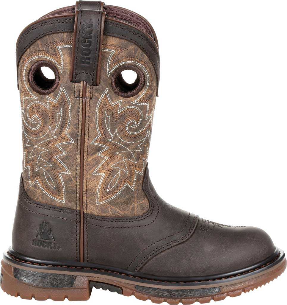 """Children's Rocky 8"""" Ride FLX Wellington RKW0301C - Little Kid, Old Town Brown/Tan Leather, large, image 2"""