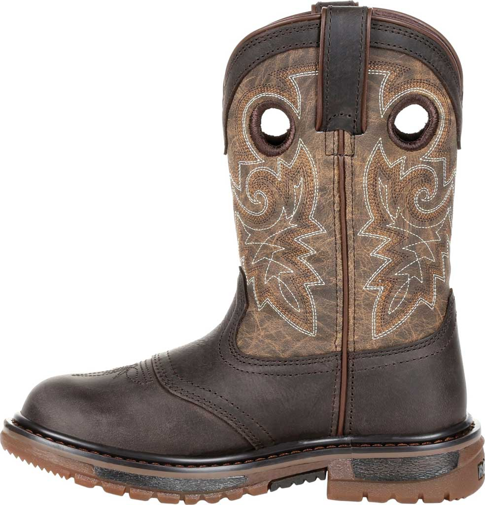 """Children's Rocky 8"""" Ride FLX Wellington RKW0301C - Little Kid, Old Town Brown/Tan Leather, large, image 3"""