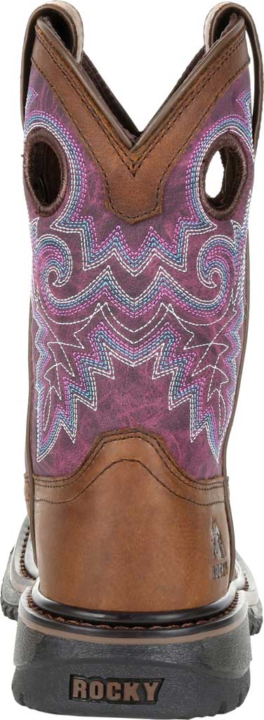 """Children's Rocky 8"""" Ride FLX Western Boot RKW0302Y - Big Kid, Brown/Purple Leather, large, image 4"""