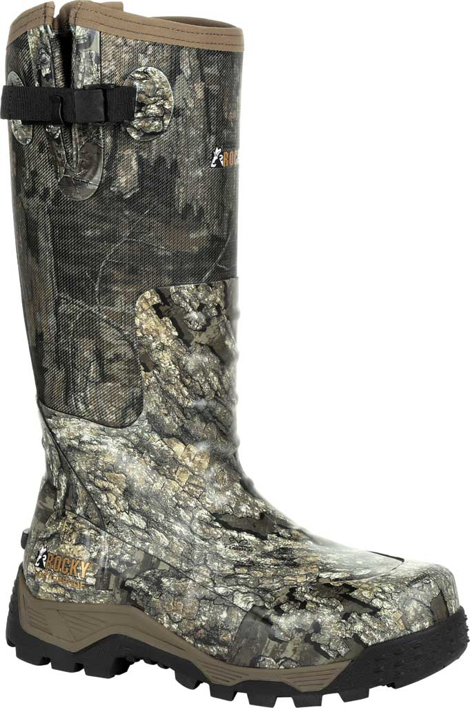Men's Rocky Sport Pro Pull On Rubber Snake Boot RKS0450, Realtree Timber Textile, large, image 1