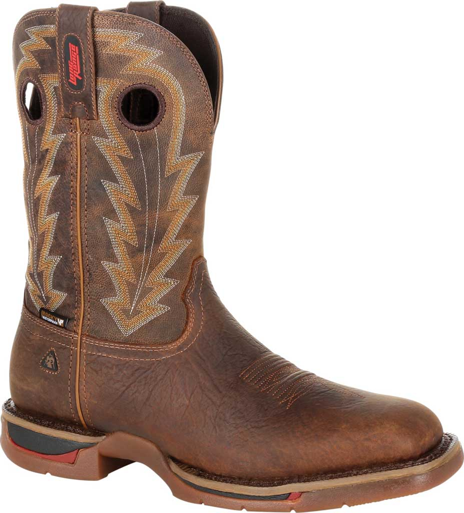 Men's Rocky Long Range Composite Toe Waterproof Boot RKW0303, Distressed Brown Full Grain Leather, large, image 1