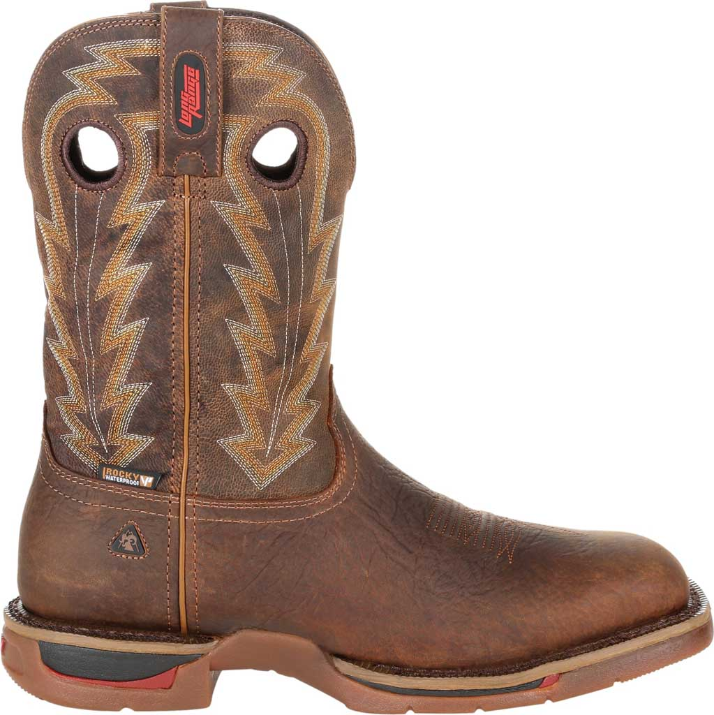 Men's Rocky Long Range Composite Toe Waterproof Boot RKW0303, Distressed Brown Full Grain Leather, large, image 2