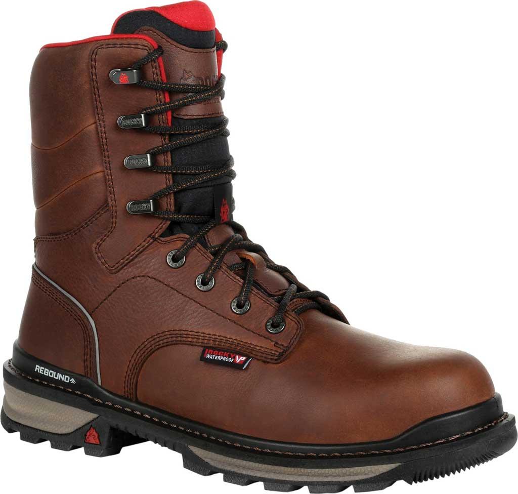 Men's Rocky Rams Horn Composite Toe Waterproof Work RKK0297, Dark Brown Leather, large, image 1
