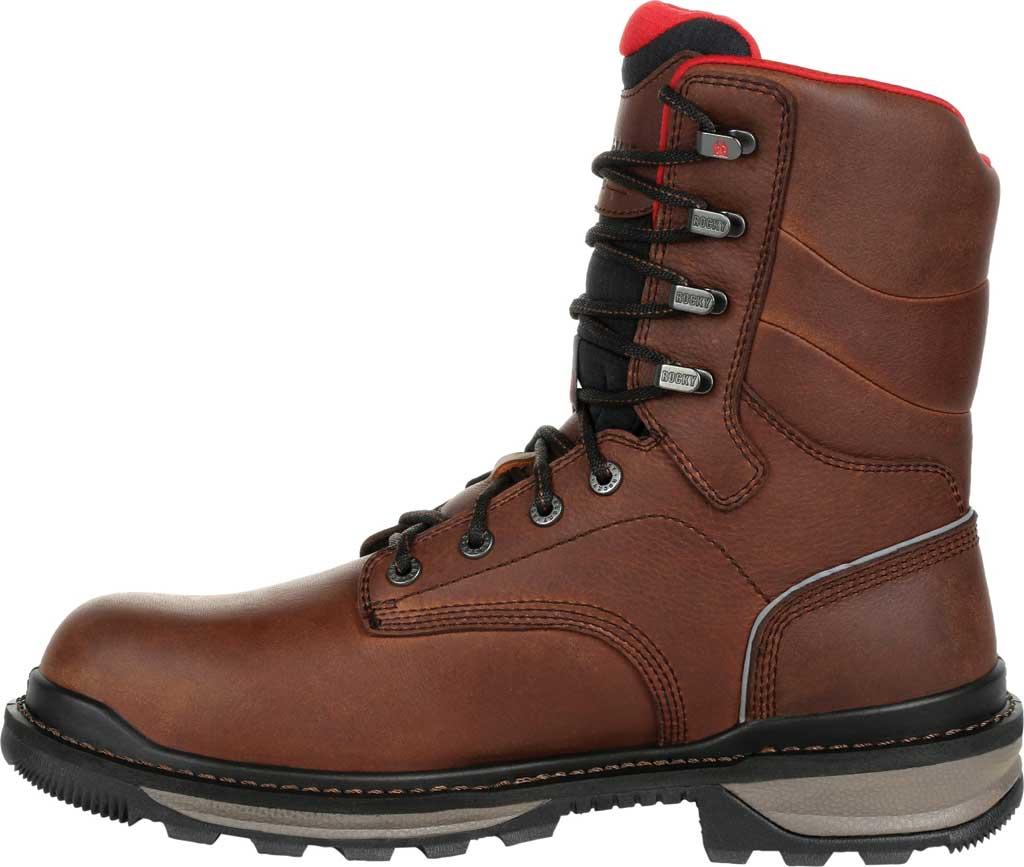 Men's Rocky Rams Horn Composite Toe Waterproof Work RKK0297, Dark Brown Leather, large, image 3