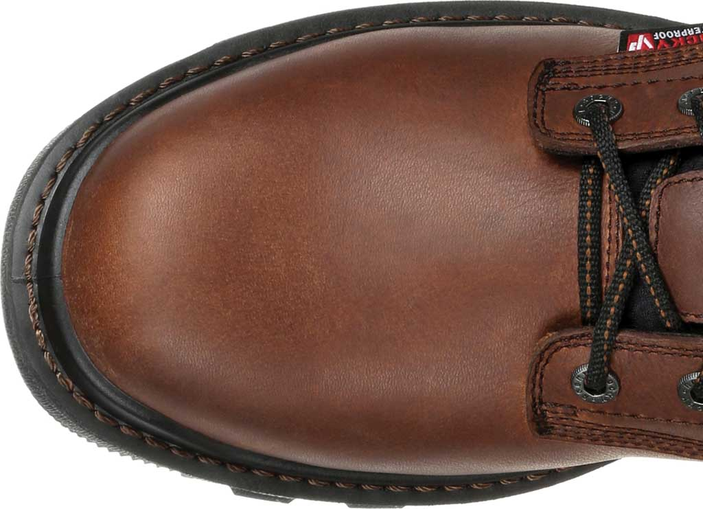 Men's Rocky Rams Horn Composite Toe Waterproof Work RKK0297, Dark Brown Leather, large, image 5