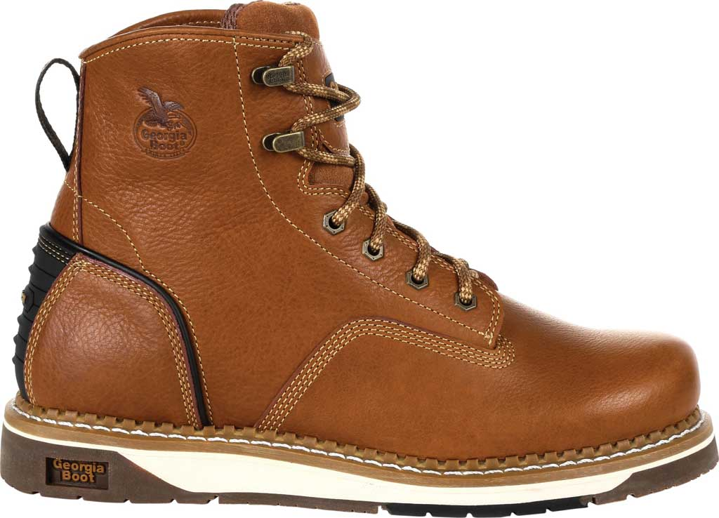 Men's Georgia Boot GB00348 Wedge Steel Toe Work Boot, Brown Full Grain Leather, large, image 2