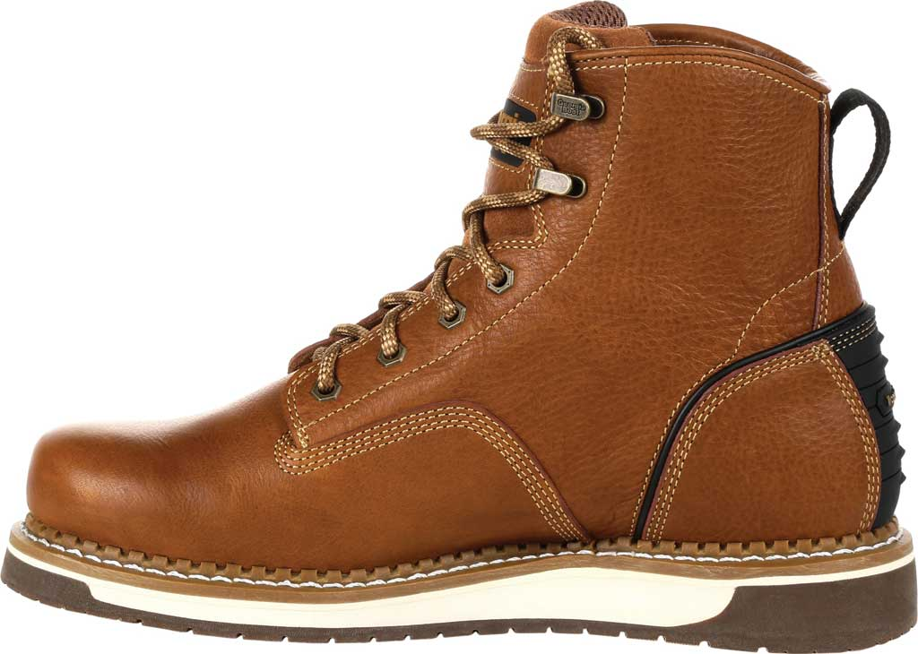 Men's Georgia Boot GB00347 Wedge Work Boot, Brown Full Grain Leather, large, image 3