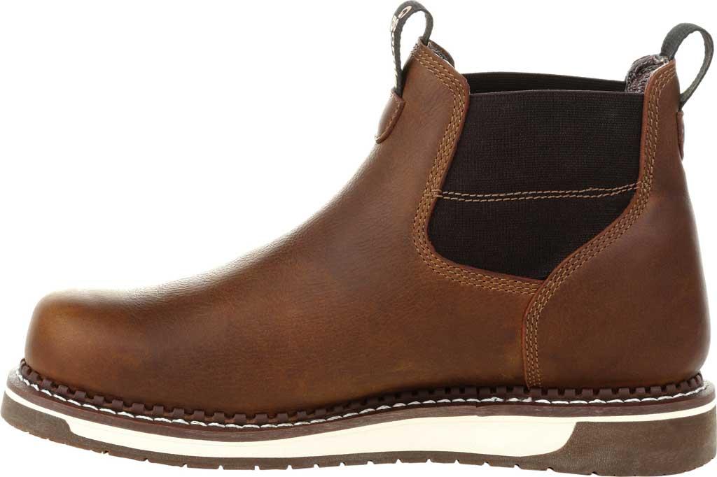 Men's Georgia Boot GB00353 Wedge Steel Toe Waterproof Chelsea Boot, Brown Full Grain Leather, large, image 3