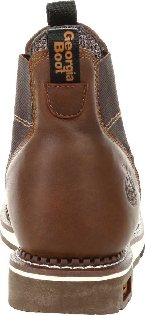 Men's Georgia Boot GB00353 Wedge Steel Toe Waterproof Chelsea Boot, Brown Full Grain Leather, large, image 4