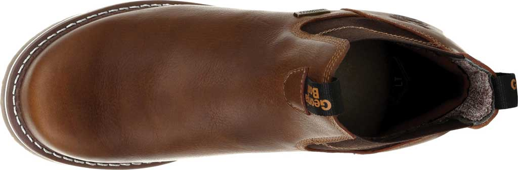 Men's Georgia Boot GB00353 Wedge Steel Toe Waterproof Chelsea Boot, Brown Full Grain Leather, large, image 5