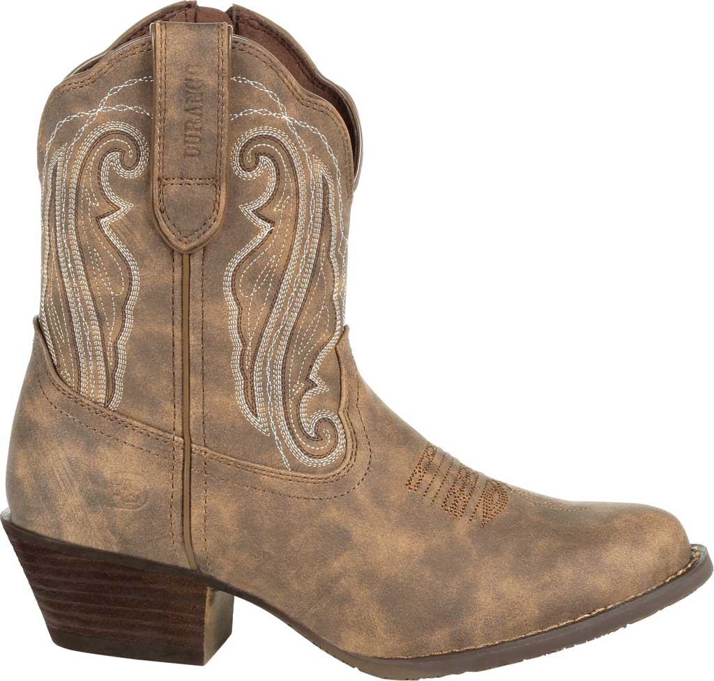 Women's Durango Boot DRD0372 Crush Distressed Shortie Western Boot, Driftwood Faux Leather, large, image 2