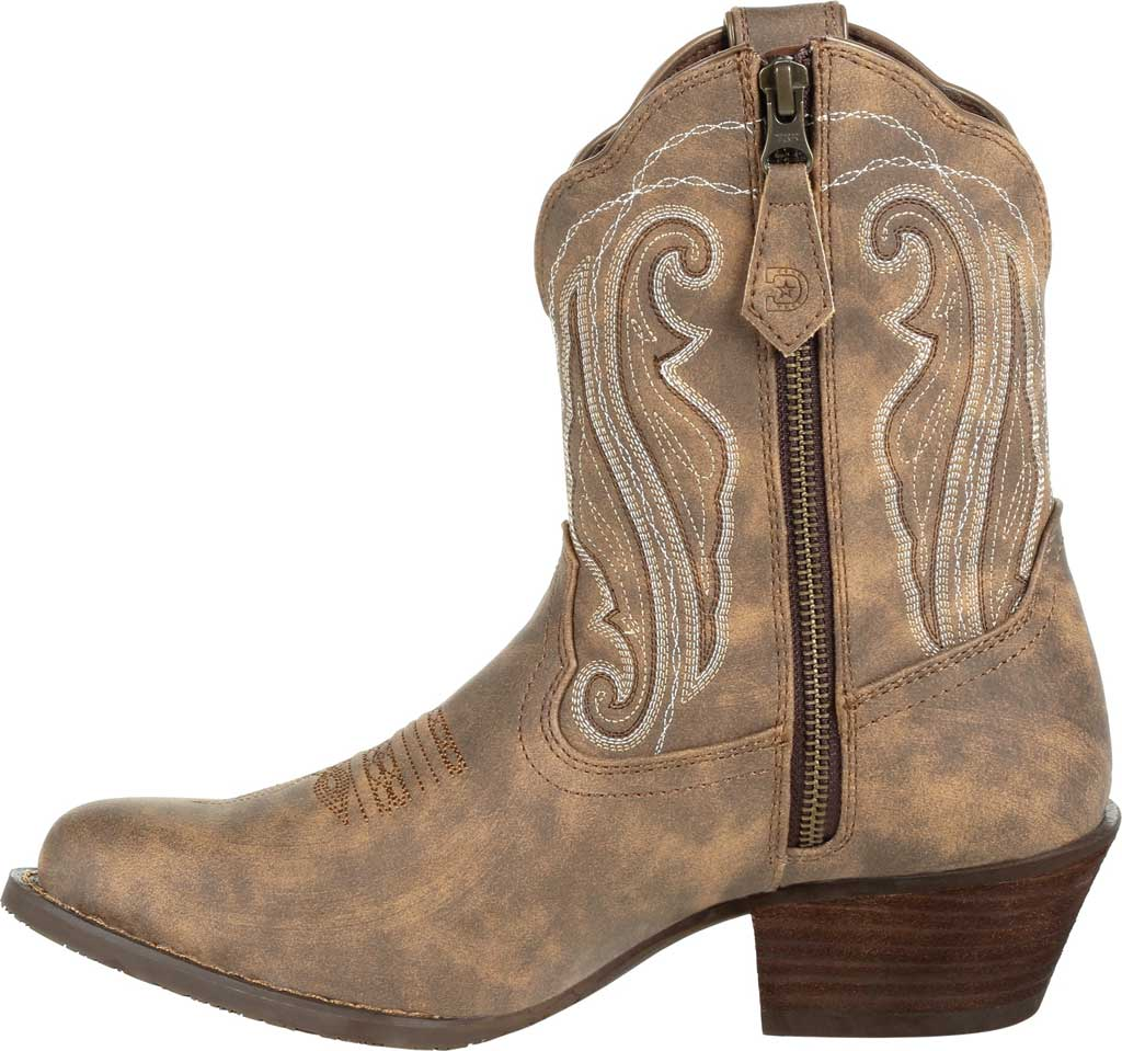 Women's Durango Boot DRD0372 Crush Distressed Shortie Western Boot, Driftwood Faux Leather, large, image 3