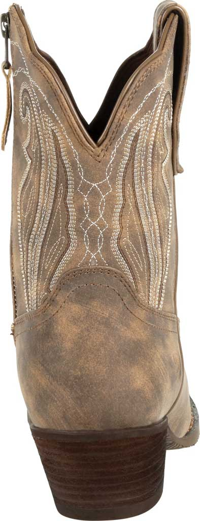 Women's Durango Boot DRD0372 Crush Distressed Shortie Western Boot, Driftwood Faux Leather, large, image 4