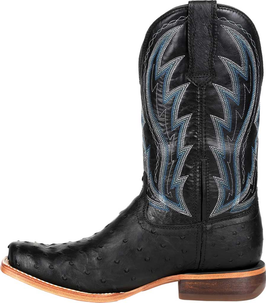 Men's Durango Boot DDB0275 Exotic Full-Quill Ostrich Western Boot, Midnight Ostrich/Full Grain Leather, large, image 3